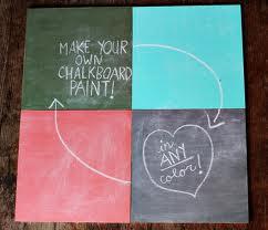 DIY chalkboard paint!