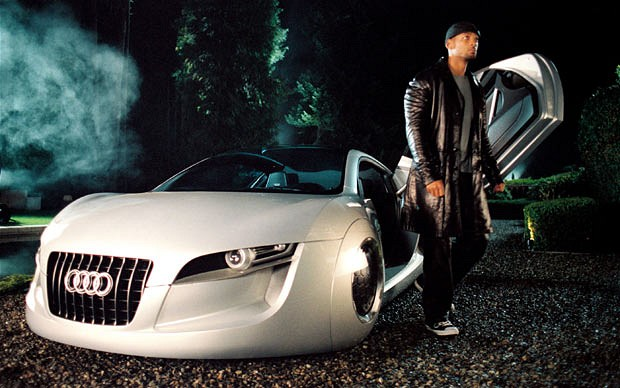 "Audi ""Robocar"" with Will Smith in 2004 iRobot © Twentieth Century Fox"