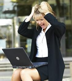 Lady upset over slow internet