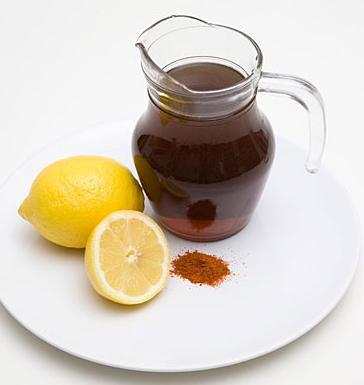 Lemon, Syrup and Chili Powder