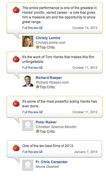 Captain Phillips Reviews