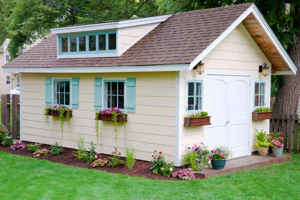 This country cottage shed is a perfect home for more than just tools