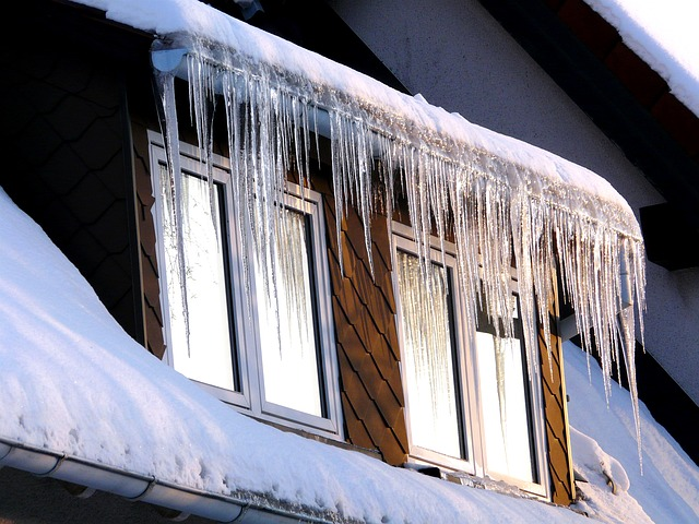 Icicles don't look as pretty when you realize that you're watching money leaking out of your home.